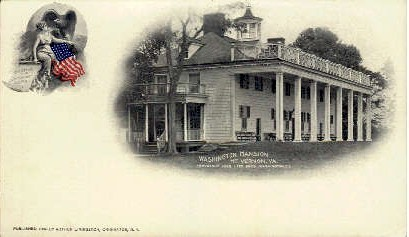 Washington Mansion - Mount Vernon, Virginia VA Postcard