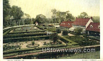 Flower Garden - Mount Vernon, Virginia VA Postcard