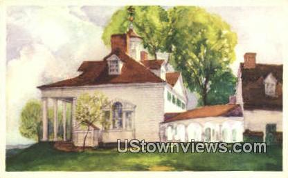 Mansion From The North - Mount Vernon, Virginia VA Postcard
