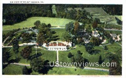 Air View - Mount Vernon, Virginia VA Postcard