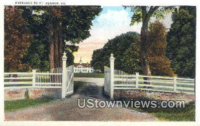 Entrance  - Mount Vernon, Virginia VA Postcard