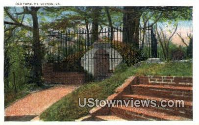 Old Tomb  - Mount Vernon, Virginia VA Postcard
