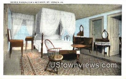 George Washington's Bed Room - Mount Vernon, Virginia VA Postcard
