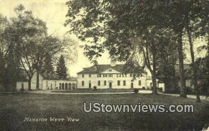 Mansion West View - Mount Vernon, Virginia VA Postcard