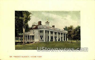 Mt Vernon Mansion - Mount Vernon, Virginia VA Postcard
