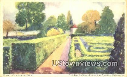 The Box Hedges - Mount Vernon, Virginia VA Postcard
