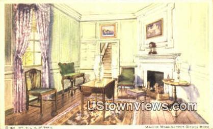 Martha Washington Sitting Room - Mount Vernon, Virginia VA Postcard