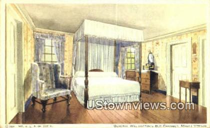 General Washington Bed Chambers - Mount Vernon, Virginia VA Postcard