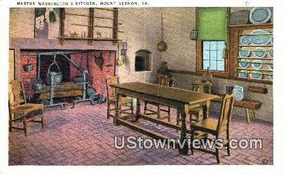 Martha Washington - Mount Vernon, Virginia VA Postcard