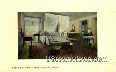 Bedroom Of Washington - Mount Vernon, Virginia VA Postcard