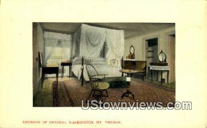 Bedroom Of General Washington - Mount Vernon, Virginia VA Postcard