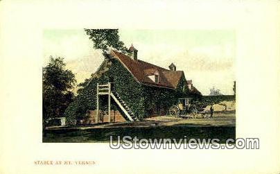 Stable At Mount Vernon - Virginia VA Postcard