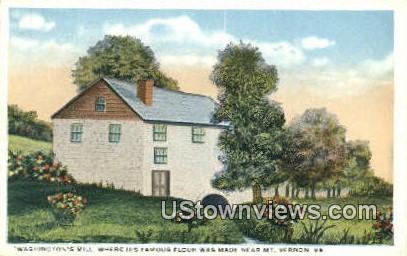 Washington's Mill - Mount Vernon, Virginia VA Postcard