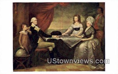 Portrait Of Washington Family - Mount Vernon, Virginia VA Postcard