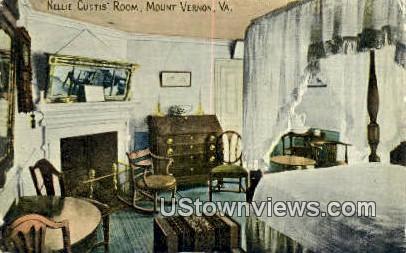 Nellie Custis - Mount Vernon, Virginia VA Postcard