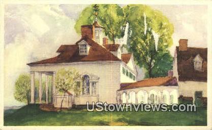 Mansion - Mount Vernon, Virginia VA Postcard