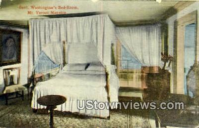 General Washington's Bedroom - Mount Vernon, Virginia VA Postcard