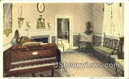 Miss Cutis's Music Room - Mount Vernon, Virginia VA Postcard