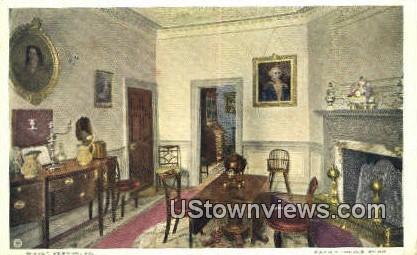 Family Dining Room - Mount Vernon, Virginia VA Postcard