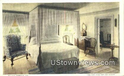 The Washington Bedroom - Mount Vernon, Virginia VA Postcard