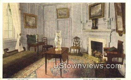 Mrs. Washington's Sitting Room - Mount Vernon, Virginia VA Postcard