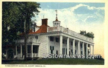 Washington's Mansion - Mount Vernon, Virginia VA Postcard