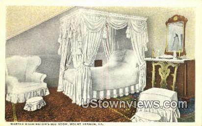 Martha Washington Bedroom - Mount Vernon, Virginia VA Postcard