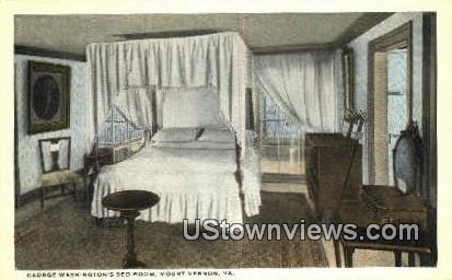 George Washington's Bedroom - Mount Vernon, Virginia VA Postcard