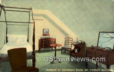 District Of Columbia Mansion - Mount Vernon, Virginia VA Postcard