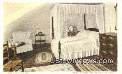 Room were Mrs. Washington Died - Mount Vernon, Virginia VA Postcard