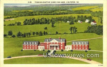 Virginia Baptist Home For The Aged - Culpeper Postcard