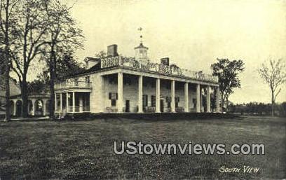 South View - Mount Vernon, Virginia VA Postcard