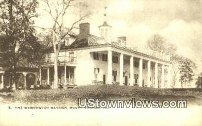 The Washington's Mansion - Mount Vernon, Virginia VA Postcard