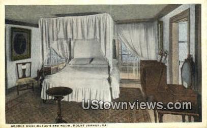 Washington's Bedroom - Mount Vernon, Virginia VA Postcard