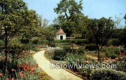 The Flower Garden - Mount Vernon, Virginia VA Postcard