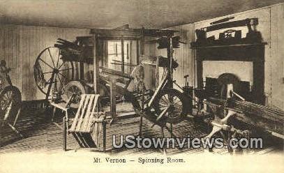 Spinning Room - Mount Vernon, Virginia VA Postcard