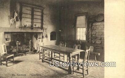 Kitchen - Mount Vernon, Virginia VA Postcard