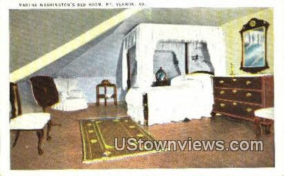 Martha Washington's Bed Room - Mount Vernon, Virginia VA Postcard