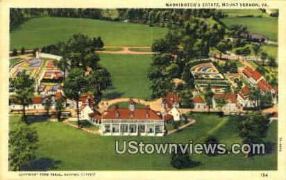 Washington's Estate  - Mount Vernon, Virginia VA Postcard