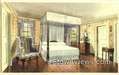 Washington's Bed Chamber - Mount Vernon, Virginia VA Postcard