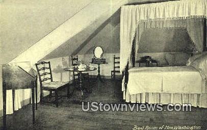 Bed Room Of Mrs. Washington - Mount Vernon, Virginia VA Postcard