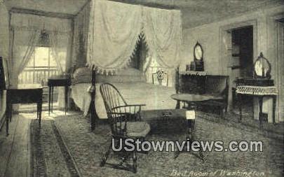 Bed Room Of Washington - Mount Vernon, Virginia VA Postcard