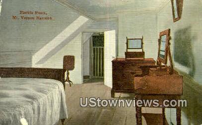 Florida Room - Mount Vernon, Virginia VA Postcard