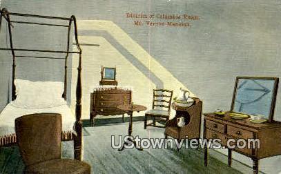 District Of Columbia Room - Mount Vernon, Virginia VA Postcard