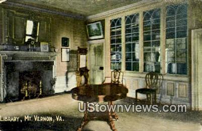 Library - Mount Vernon, Virginia VA Postcard
