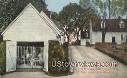 Coach House Smoke House - Mount Vernon, Virginia VA Postcard