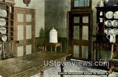 Martha Washington's Kitchen - Mount Vernon, Virginia VA Postcard