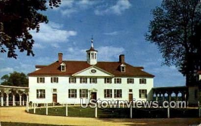 West Front - Mount Vernon, Virginia VA Postcard