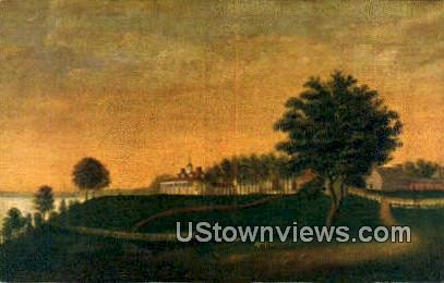 The East Front - Mount Vernon, Virginia VA Postcard