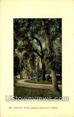 Walk Beside Bowling Green - Mount Vernon, Virginia VA Postcard